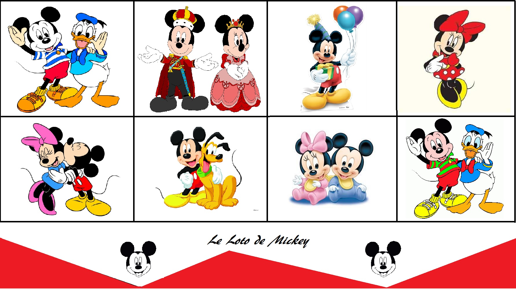 loto mickey printable maman pouponne papa bricole. Black Bedroom Furniture Sets. Home Design Ideas