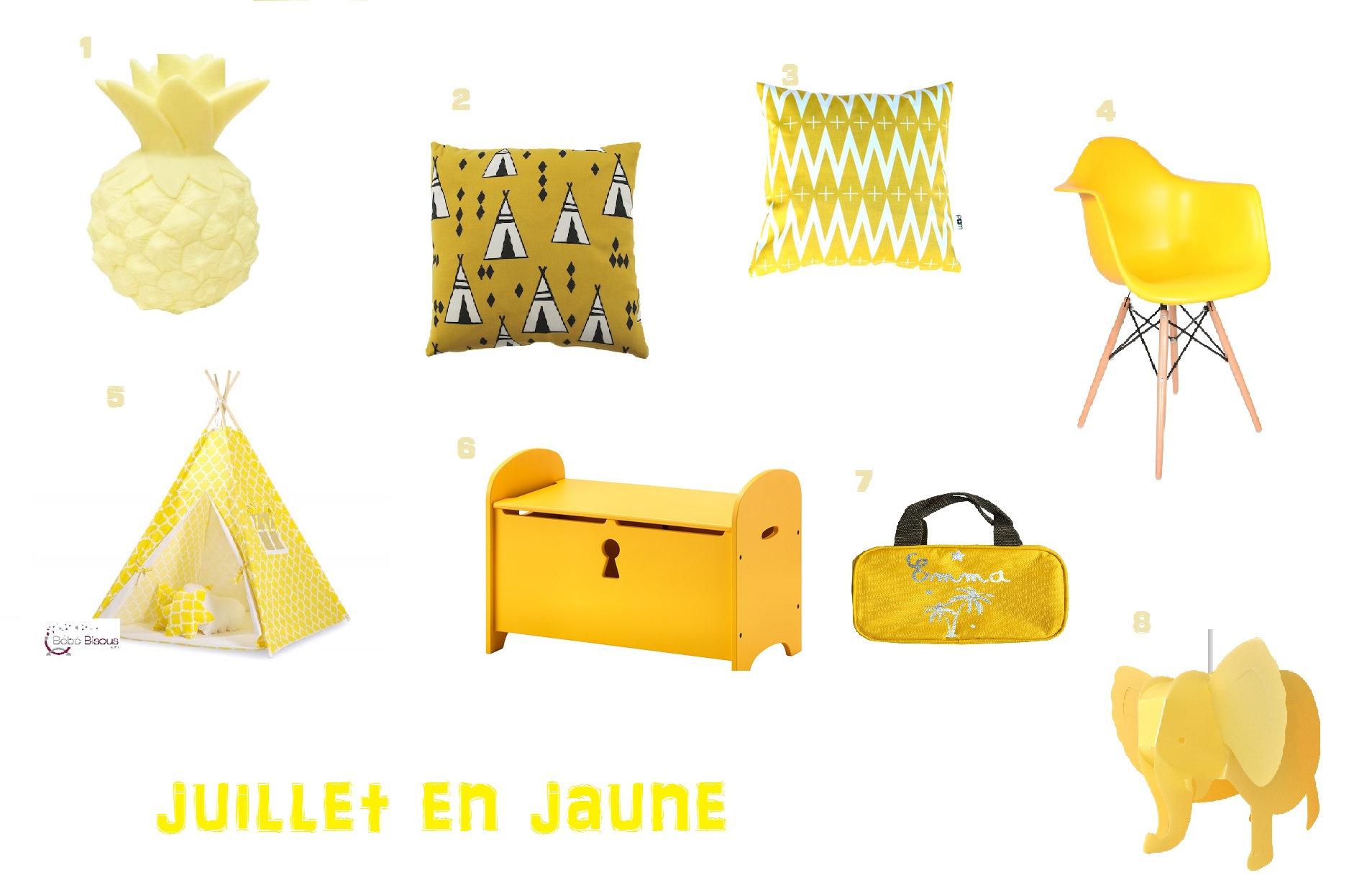 Un mois Une couleur Juillet en jaune