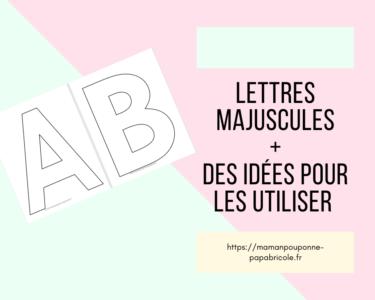 Lettres majuscules à imprimer